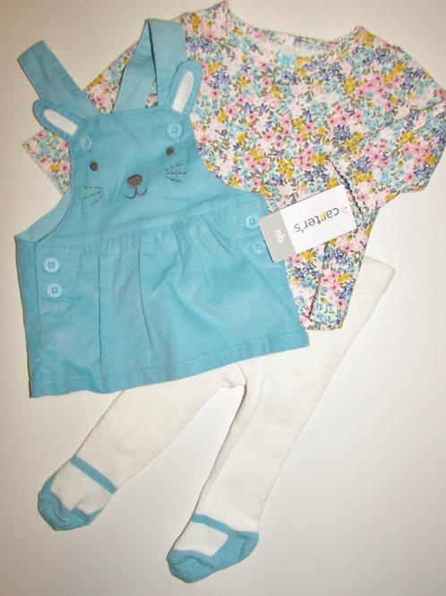 Carters aqua/floral bunny size N