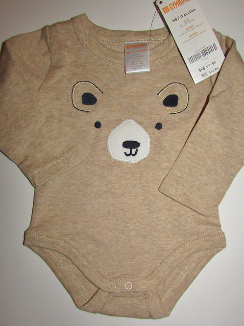 Gymboree long sleved creeper tan/bear N