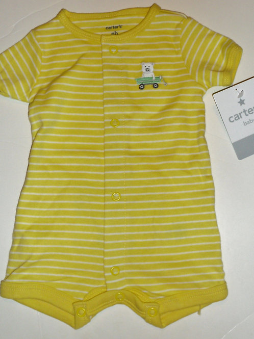 Carters shortall yellow/stripe/bear Newborn