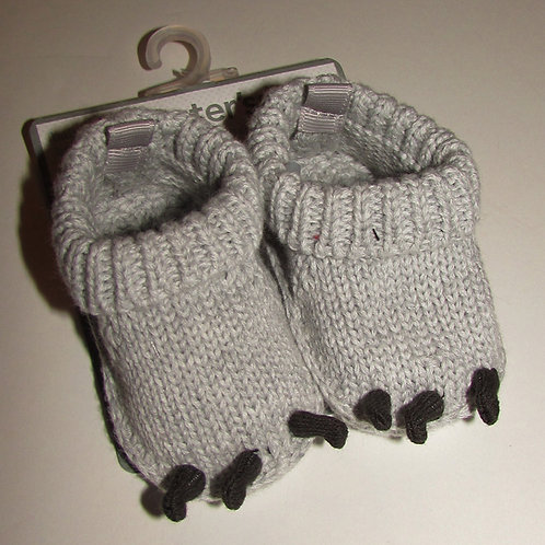 Carters knit booties gray size N