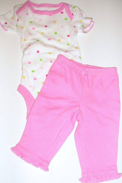 Child of Mine 2 pc pink/white size N
