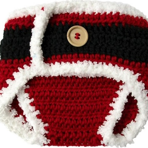 So Dorable knit diaper cover Santa size 0-6 mo