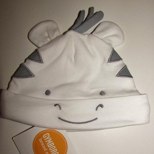 Gymboree hat white/zebra motif size N