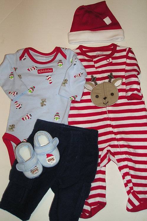 Child of Mine 5 pc set deer/Santa set size N