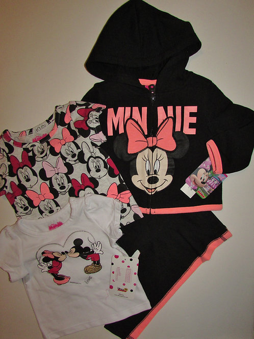 Disney black/pink Minnie size 0-3 mo