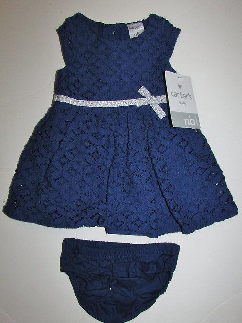 Carters dress set navy/silver size N