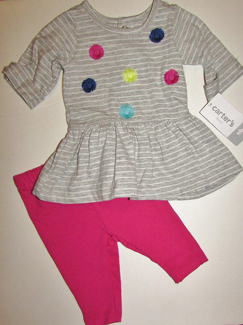 Carters gray/pink size N