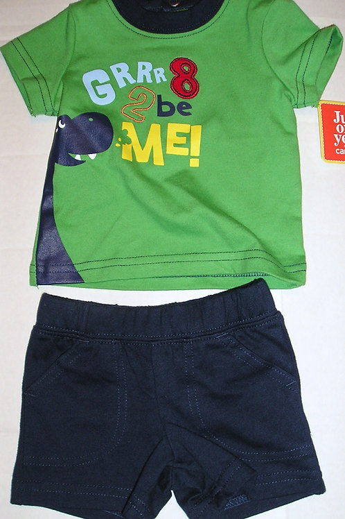 Just One You 2 pc set green/navy/dino Newborn