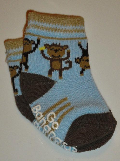 Carters socks blue/brown size 0-3