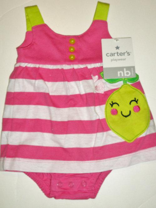 Carters dress pink/stripe size N