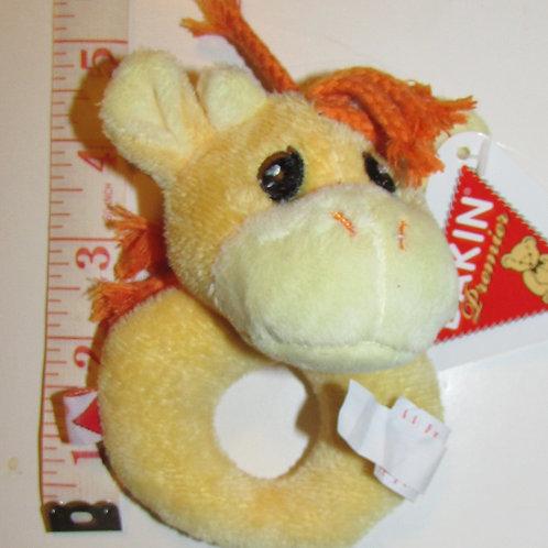 Dakin plush rattle ring giraffe