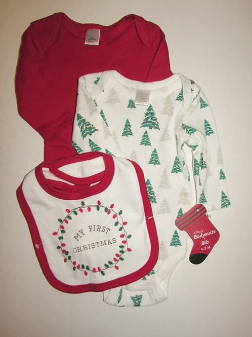 Baby Basics 3 pc set Xmas size 0-3 mos