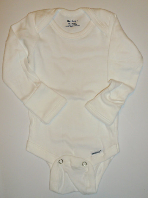 Gerber long sleeve creeper white Newborn