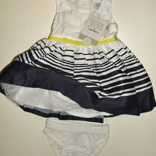 Carters dress white/navy size N