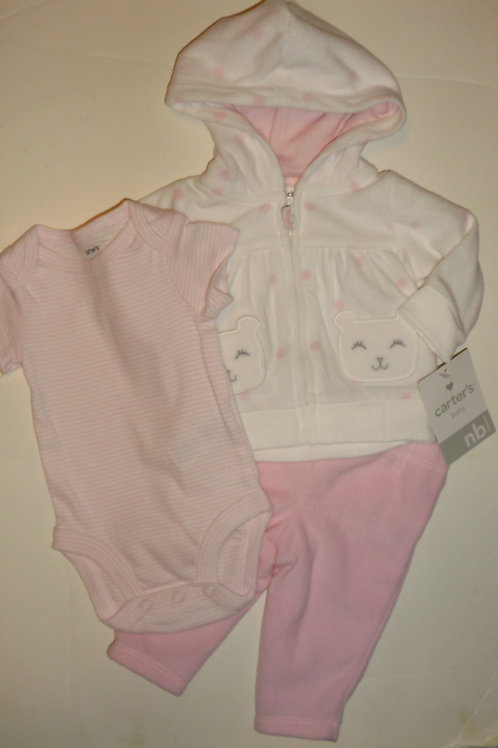 Carters white/pink/cat size N