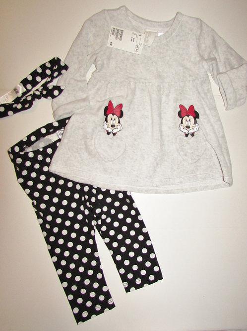 Disney gray Minnie size 6-9 mos
