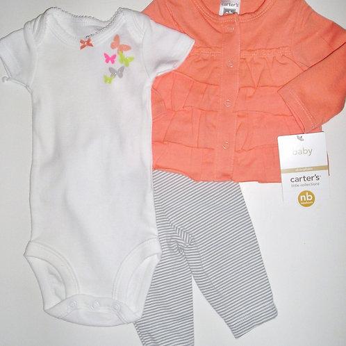 Carters orange/gray size N