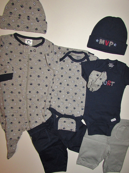 Gerber 8 pc layette set choose style Sport size N
