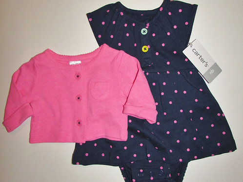 Carters navy/pink size N