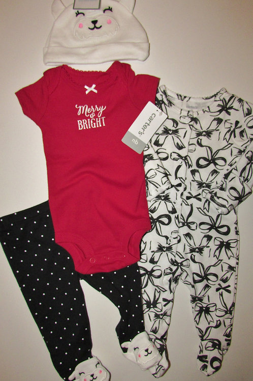 Carters white/black/red size N