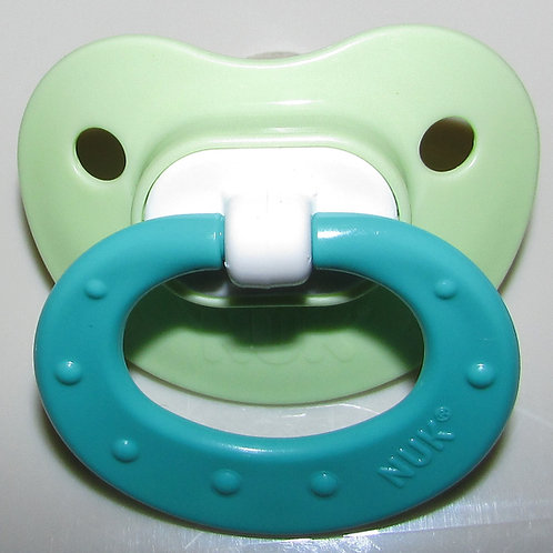 Nuk green pacifier silicone nipple size 1
