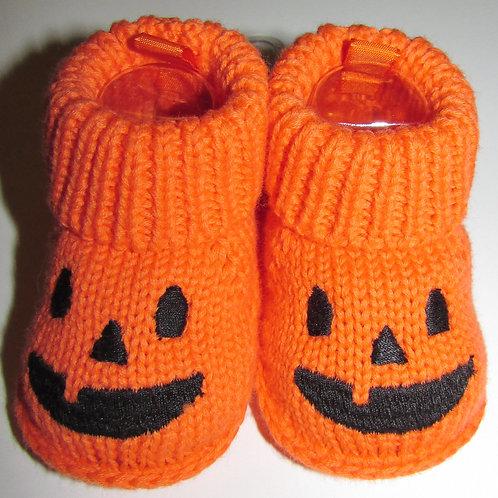 Carters pumpkin booties size N