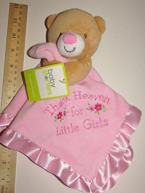 Baby Starters security blanki bear pink