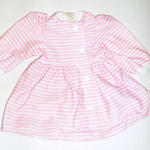 doll dress used pink stripes