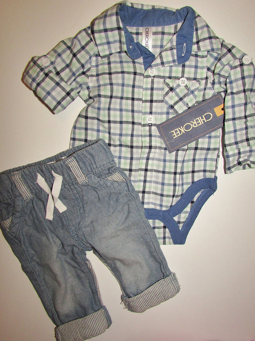 Cherokee denim/checks size N