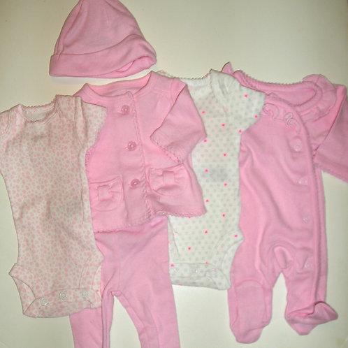 Precious First 6 pc set pink/bears Small Preemie