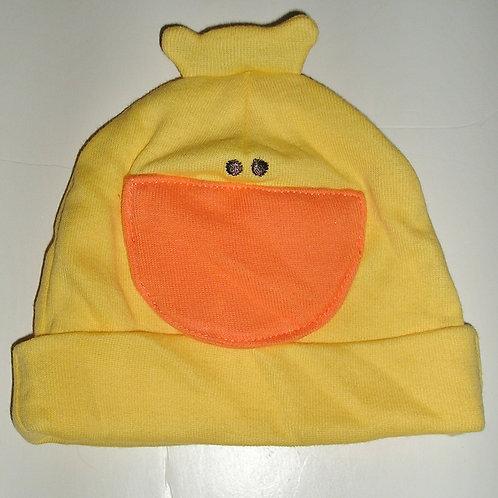 Gerber hat yellow/duck motif size 0-6 mo