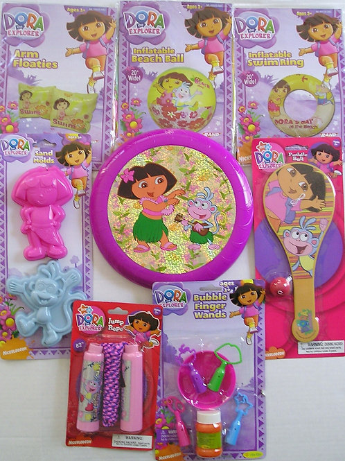 Disney 8 pc water toy set Dora motif