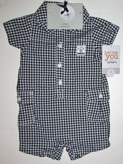 Just One You shortall white/black checked N