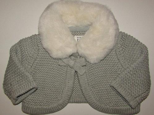 Baby Gap gray/fur size 0-3 mo
