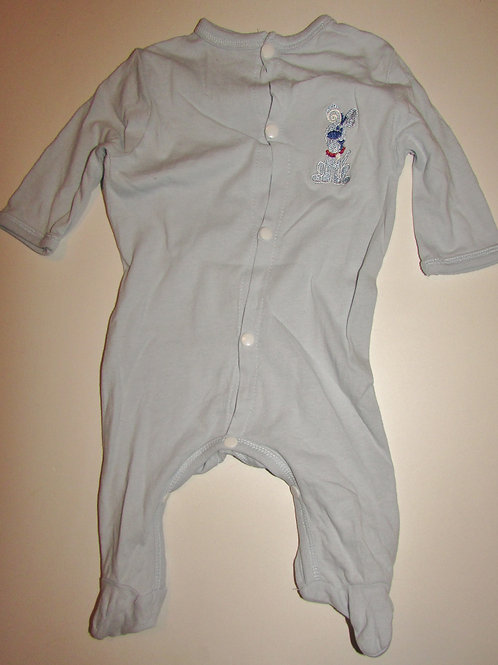 Carters used sleeper light blue/dog (vintage?) size 0-3 mo