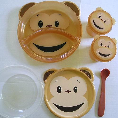 Dinnerware set 8 pc monkey