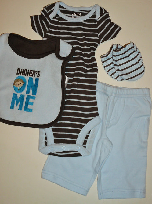 Child of Mine 4 pc set stripes size N