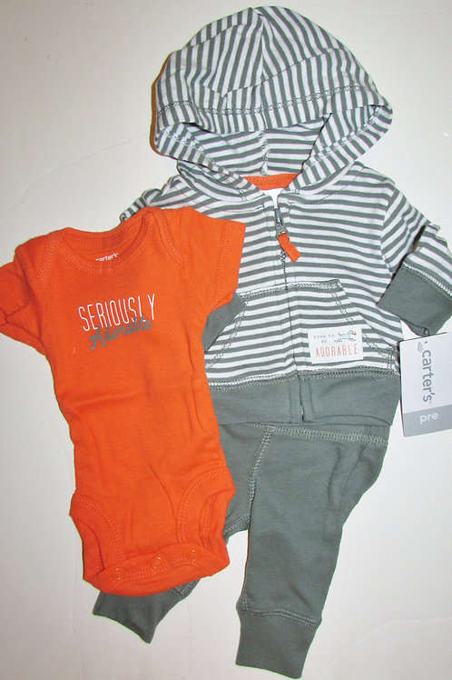 Carters 3 pc set adore size N
