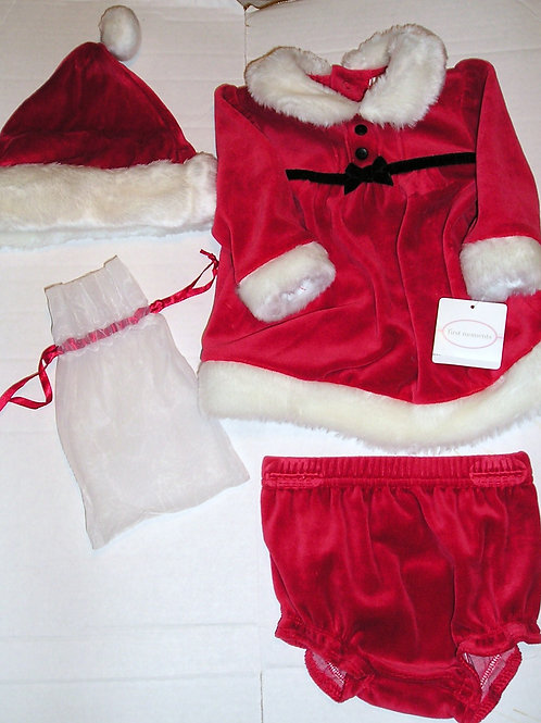 First Moments 3 pc set red/white 0-3 mo