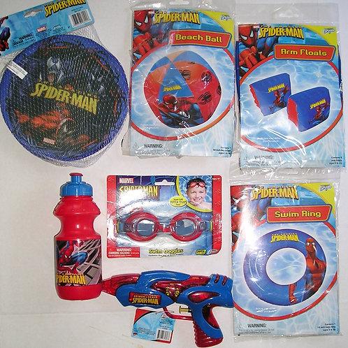 Disney water toy 7 pc Spider man
