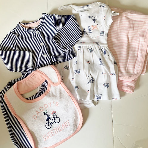 Carters 5 pc set size N