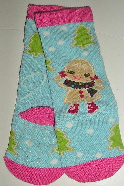 Gymboree stockings aqua/snow size 0-3 mo