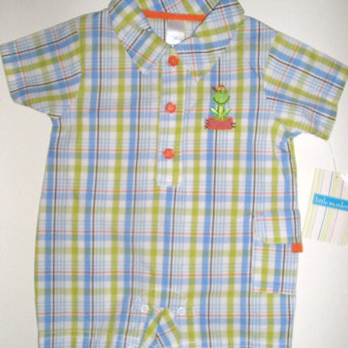 Little Wonders shortall blue/green/frog size 0-3 m