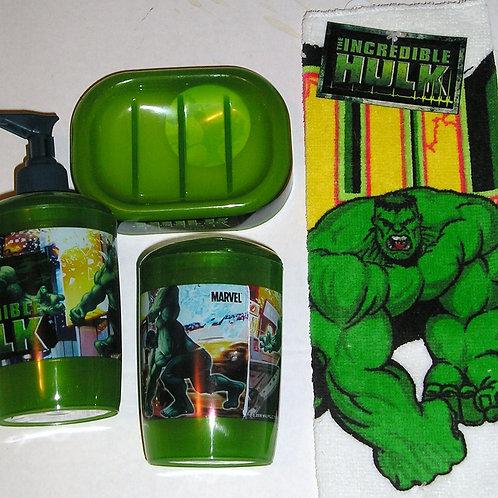 Hulk 4 pc bathroom set