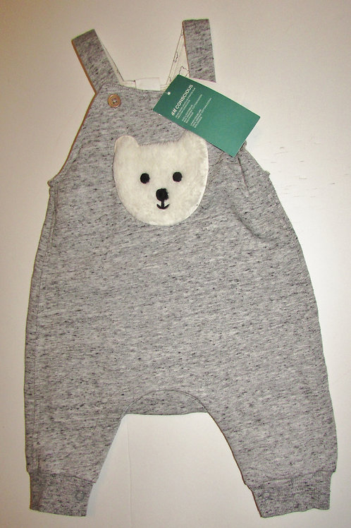 H & M gray/bear size up to 4 mos