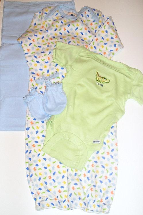 Gerber 4 pc set white/blue/green/zoo Newborn