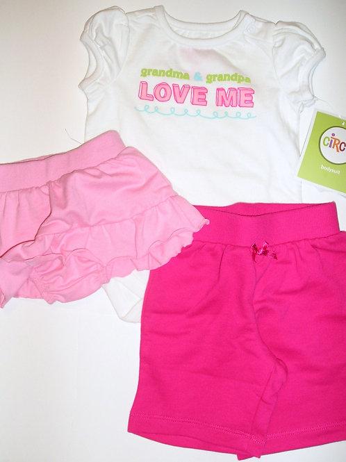 Circo 3 pc set white/pink size N