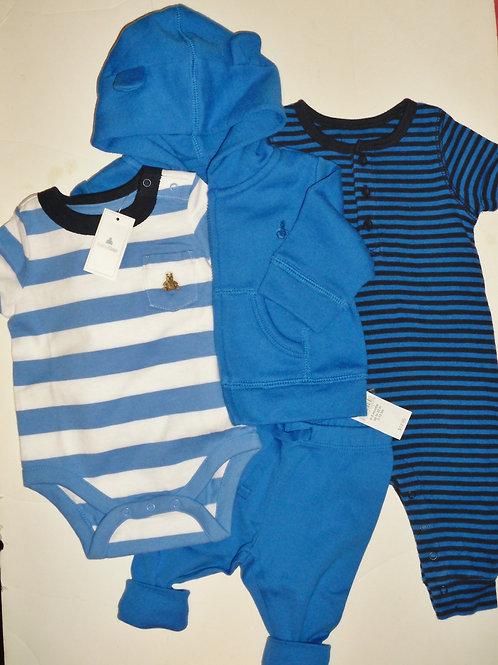 Baby Gap 4 pc jacket set blue size 0-3 mos