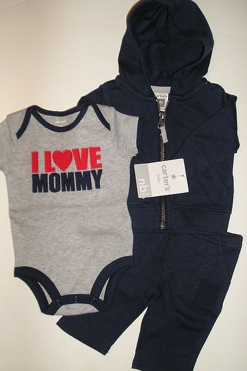 Carters navy/gray size N