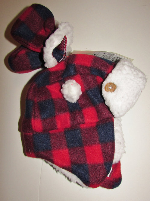 Cat & Jack red/check size 0-3 mos